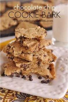 chocolate chip cookie bark : Your Home Based Mom