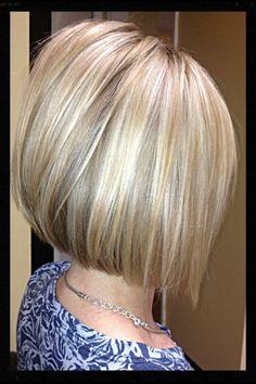 blonde bob by@stylistlindsey