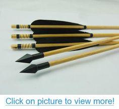 Archery DIY Wooden Shaft Arrows Black Turkey Feather Fletched Hunting Arrow Target Arrows for Recurve Bow 12pcs