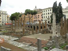 Steps where Julius Caesar was assassinated. Contrary to Shakespeare it was at the Pompey Theatre! (went there last year!)