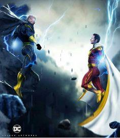 Black Adam vs Shazam by Bosslogic