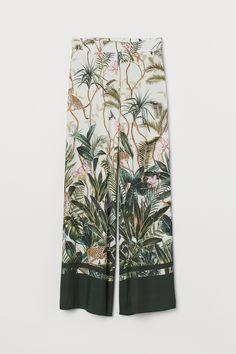 Jungle print palazzo pants - H&M