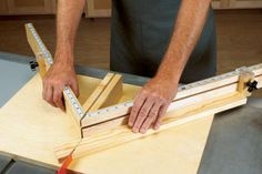 This miter-cutting sled offers a dual-rail guidance system that rides in the miter-gauge slots of your tablesaw and smooth-acting stops that ride in tracks. It also features a safety channel down the middle to keep your hands away from the tablesaw blade.