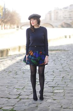 Violaine Olga Madeleine - Asos Skirt, United Colors Of Benetton Béret - Petite française