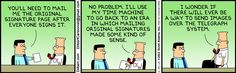 The Dilbert Strip for June 24, 2013 - Signature