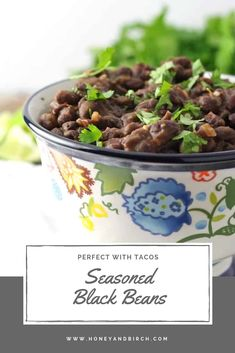 This seasoned black bean side dish recipe is your new favorite side dish recipe! Perfect for Taco Tuesday alongside rice, burritos, and any other Mexican dishes! This seasoned black bean side dish recipe is your new favorite side dish recip Mexican Corn Side Dish, Taco Side Dishes, Best Side Dishes, Healthy Side Dishes, Mexican Dishes, Food Dishes, Mexican Food Recipes, Dog Food Recipes, Mexican Easy