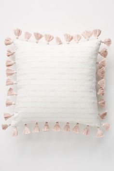 decorative pillows 24277285479420470 - Orange Pillows by Anthropologie, Tasseled Pendana Pillow Source by anthropologie