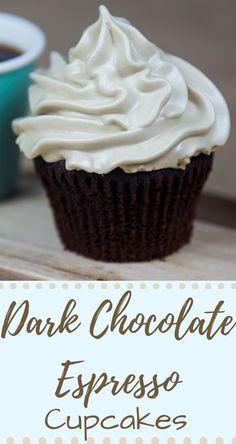 Dark Chocolate Espresso Cupcakes with Meringue Frosting... You bet!
