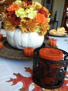 Fall thanksgiving centerpiece