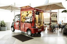Alto Café mobile pop ups, Paris cafe Mobile Restaurant, Mobile Cafe, Mobile Shop, Coffee Carts, Coffee Truck, Coffee Shop, Gelato, Visual Merchandising, Menu Café