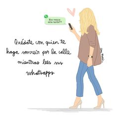 """Ana Marín (@itsanamarin) en Instagram: """"Si sonríes sola mirando a la pantalla del móvil...."""" S Quote, New Quotes, Daily Quotes, Love Quotes, Inspirational Quotes, Cute Messages, My Beautiful Friend, Motivational Phrases, Sweet Quotes"""