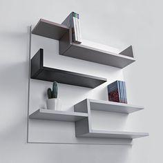 the Destination to Shop Italian Design Creative Bookshelves, Bookshelf Design, Wall Shelves Design, Home Office Design, House Design, Decor Around Tv, Home Furniture, Furniture Design, Modern Floating Shelves