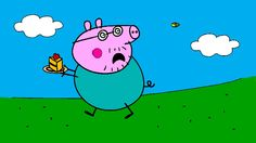 Peppa Pig Coloring Pages for Kids ► Peppa Pig Coloring Games ► Daddy Pig Running Away Coloring Book