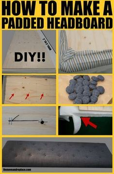 How To Make A Padded Headboard For A Bed Step By Step DIY I want one bad and I've Waited long enough. It's time to Get one going and make one.