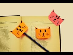 How to make a paper Cat Bookmark?