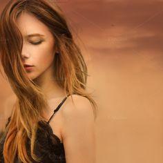 portrait of beautiful girl by Aleshyn Andrei on Creative Market