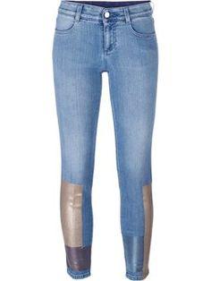 skinny 'Boyfriend' trimmed jeans