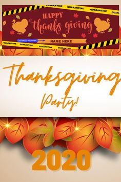 · Celebrate Thanksgiving Banner even in Quarantine Period . The picture shows a Seasonal Thanksgiving design. . This banner can be used to celebrate Happy Thanksgiving even its a quarantined because of the pandemic. . Decorate in Turkey background theme ideas. . This Thanksgiving banner is great for the person who needs Family Thanksgiving Ideas. · The banner can be a backdrop or an additional party decoration.