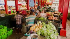 Seychelles, Mahé - Jan 2018: Victoria market, people with stalls and shops selling fresh produce, herbs, fruit, vegetables, fish and spices to local Seychellois and tourists. Seychelles, Jan 2018, Stalls, Stock Footage, Spices, Shops, Tropical, Herbs, Victoria