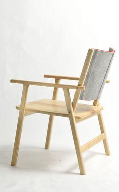 Felt back Lounge Chair by Alex Gay