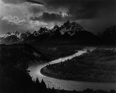 Ansel Adams: The Mural Project 1941-1942    Grand Teton, Snake River  Wyoming