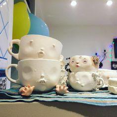 Утро начинается с чашки 🍵☕️ This morning begins from cup 🍵☕️  #dollechka #porcelain #porcelaindoll #porcelaincup #sculpture #clay #fantasy #фарфор #чашки #чашкакофе #чашкачая