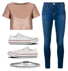 Untitled #90 by marianaledesma on Polyvore featuring polyvore, fashion, style, Glamorous, Frame Denim, Converse, Mark Broumand and clothing
