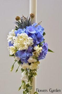 lumanari botez, botez, aranjamente botez, lumanare botez, aranjamente botez, lumanare rotunda Blue Wedding, Wedding Flowers, Candels, Vase, Wedding Ideas, Bridal, Bride, Flower Vases, Jars