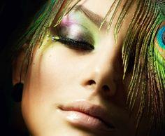 Peacock. Beautiful.    Shelly Lakhani | Professional Hair and Makeup Artist | Asian Bridal Makeup Artist | Bridal Makeup Artist | Fashion make-up artist London