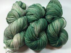 Hand Dyed Yarn Ultra Soft Merino Superwash by HauteKnitYarn