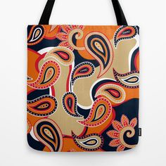 Rock+Orange+Tote+Bag+by+patterndesign+-+$22.00