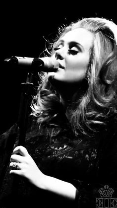 Adele! I just think she is so beautiful and she doesnt even fit in to the Hollywood size 0, six foot beauty mold.