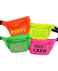 Fanny packs Bachelorette parties by celebrationsDesigns on Etsy