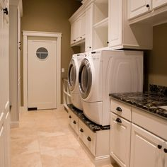 Laundry room ideas to raise the washer and dryer