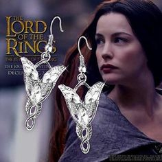 Arwen Evenstar Silver Plated Pendant and Earrings\Lord of the Rings Jewelry