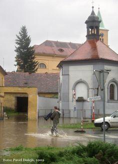 2002, Stod, povodeň, Bezručova ulice, foto Pavel Dolejš.