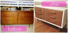 Midcentury Dresser Update DIY. Doing this for our bedroom entertainment center