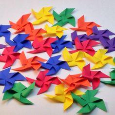Rainbow Pinwheel Confetti by PicktheCake on Etsy, $20.00