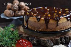 Serniki - Niebo na talerzu Chocolate Cheesecake, Christmas Deco, Cakes And More, Cheesecakes, Pudding, Plates, Cooking, Food, Heaven
