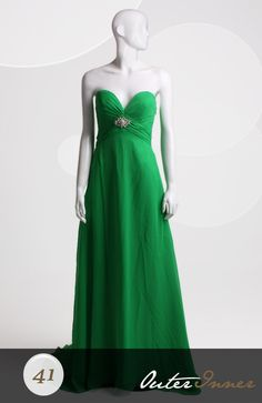 Sweep/ Brush Train A-line Sweetheart Strapless Prom Dresses Style Code: 06593
