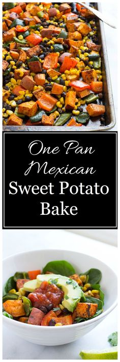 One Pan Mexican Sweet Potato- super easy and so healthy! #grainfree #glutenfree #plantbased
