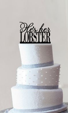 He's Her Lobster Cake Topper by Chicago Factory by ChicagoFactory