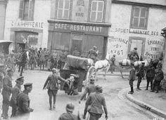 Image: IWM Q65191 Artillery passing through Hautvillers, Marne, 1918