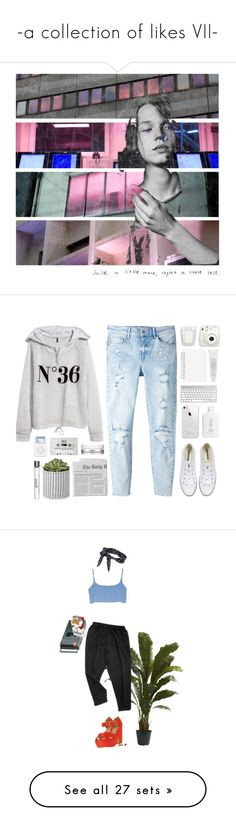 """""""-a collection of likes VII-"""" by x-utopia-x ❤ liked on Polyvore featuring art, H&M, MANGO, Converse, Muji, Fresh, Kiehl's, philosophy, Nearly Natural and dELiA*s"""