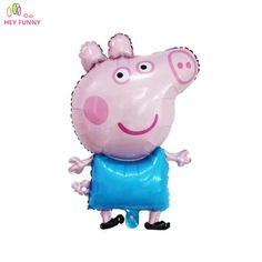 Peppa Pig Toy Children's Air Foil Balloons Cartoon Pink Pig for Children Funny Party & Birthday Decoration