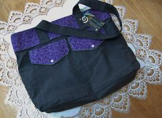 Large Lightweight Tote -- Purple Swirl by MistyMeadowTreasures on Etsy