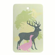 Deer skjærebrett - light green - Design by Susanne Schjerning