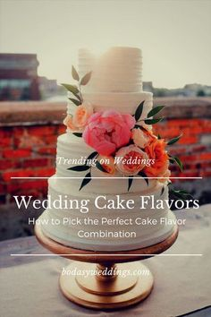 Finding the best wedding cake flavors is not easy. Check out the latest trends and how to pick the perfect cake flavor for your wedding!