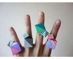 紙でできた指輪 : 紙で作るペーパーアクセサリー アイデア集 - NAVER まとめ