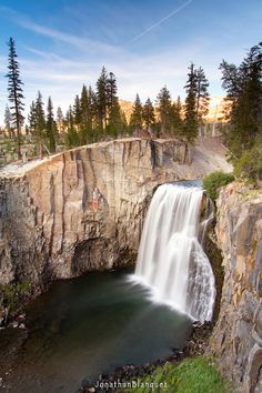 Rainbow Falls (mammoth Lakes)--near family campground in High Sierra Mtns. Near Mammoth Lakes. I hiked to this site multiple times! So beautiful!